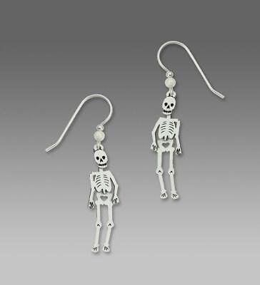 Sienna Sky Earrings 925 Sterling Silver Hook Movable Dangle Skeleton Halloween