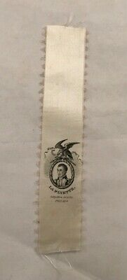 Antique Marquis De Lafayette American Us Tour 1824 Political Silk Ribbon