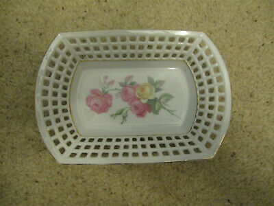 Small vintage dish with lovely pierced edge