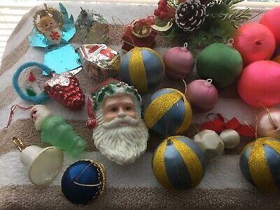 Vintage Christmas Baubles And Assorted decorations