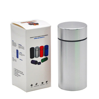 Stash Jar Airtight Smell Proof Aluminum Herb Storage Container Bottle-Silver