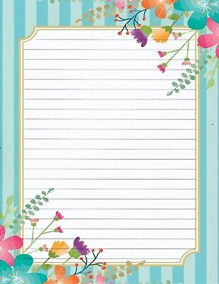 Classical Flower Design Lined Stationery Writing Set 25 sheets /& 10 envelopes