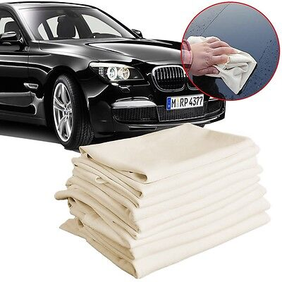 Natural Shammy Chamois Leather Car Cleaning Towels Drying Washing 15X15CM AdtN