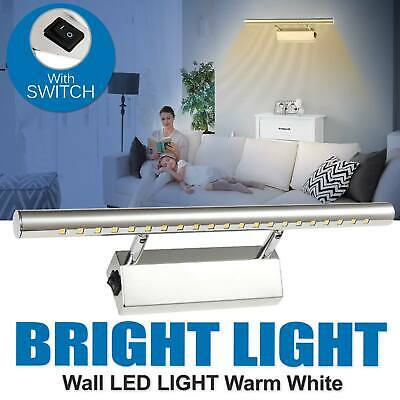 5050 SMD White Wall LED Front Light Bathroom Over Mirror Lamp T-Bar With Switch