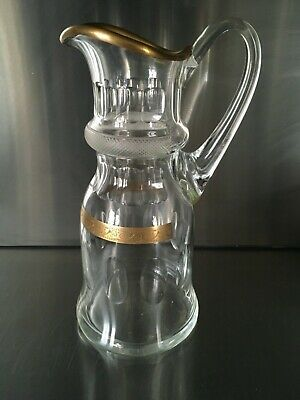 Moser Cut Glass & Gilt Water Claret Jug