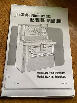 New Rock Ola Models 474 and 473  Complete Service Manual /& Parts Catalog