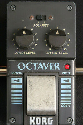 Korg Octaver 0Ct-1 A Made In Japan 1980 Vintage Working Guitar Classic Stomp Box