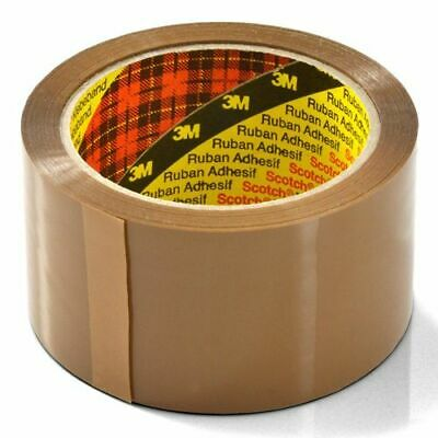 1 ROLL OF GENUINE Scotch 3M  Brown Buff Parcel / Packing Tape Rolls 50mm 66m