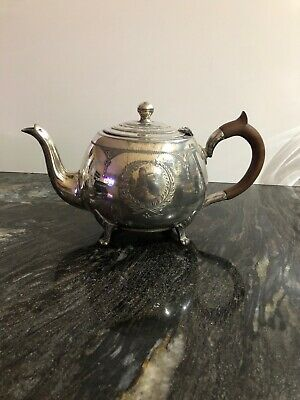 Antique Silver Plated Teapot Sheffield