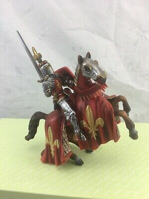 Schleich Knights *Prince On Reared Horse *Red 70018. 2003-13. Retired.
