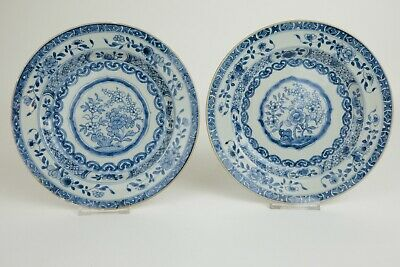 Lovely set antique Chinese Porcelain 22.5 cm Plates with Flower decoration 18thC