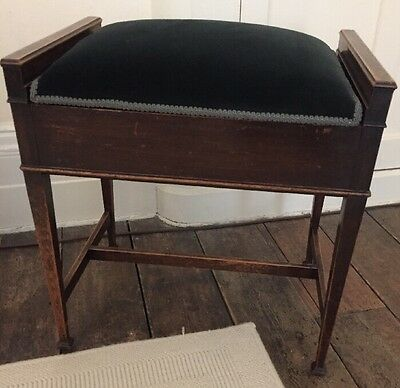 Piano Stool With Storage  /Desk /Dressing Table Blue velvet seat