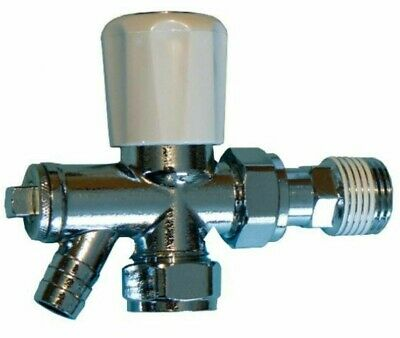 BRAND NEW OPTIMA PLUS 15mm RADIATOR VALVE WITH DRAW OFF INCLUDES 10 MM REDUCER