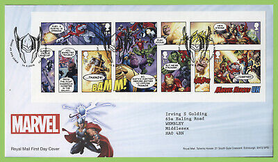 G.B. 2019 Marvel M/S on Royal Mail First Day Cover, Shield Road
