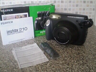 Fujifilm Instax 210 Wide Instant Colour Film Camera with box & manual.USED ONCE.