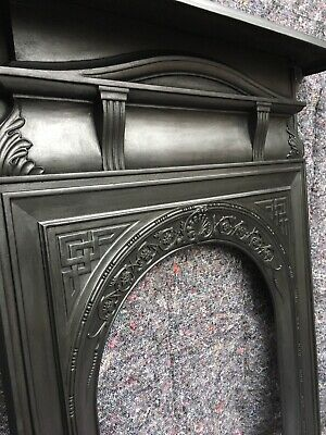 London Antique Cast Iron Fire Surround Victorian Arched, Uk Delivery.