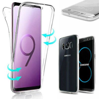 Coque Housse 360 FULL Silicone Tactile Pour Samsung S6 S7 S8 PLUS S9 S10 Note8 9