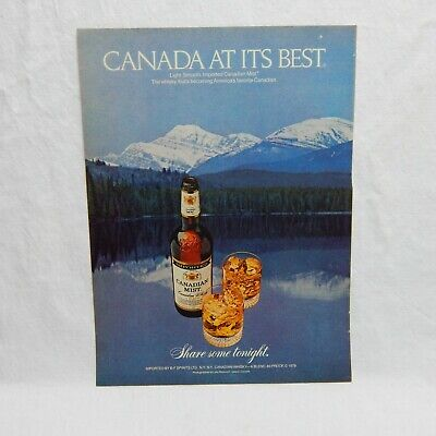 Canadian Mist Whisky Vintage Advertising Magazine Page, May 19, 1980