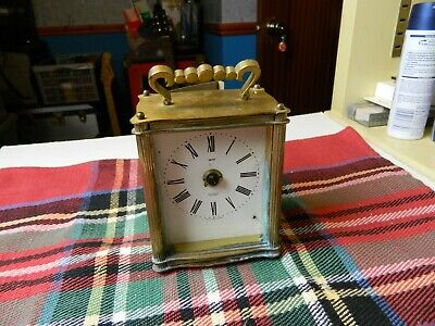 vintage Smiths Sectronic battery brass carriage mantle clock