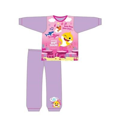 Girls Official Baby Shark Long Pyjamas Pjs Age 4-5 Years