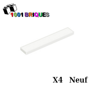 Plate Tile 1x1 With Groove NEUF NEW blanc, white 6 x LEGO 3070 Plaque Lisse