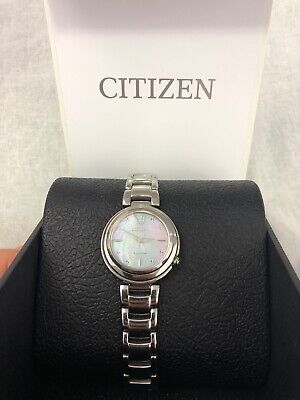 Citizen Eco-Drive womens E031-S093281 Sapphire Stainless Steel Watch With Case