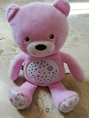 - Doudou Peluche Ours Rose Ourson Projecteur Baby Bear First Dream Chicco