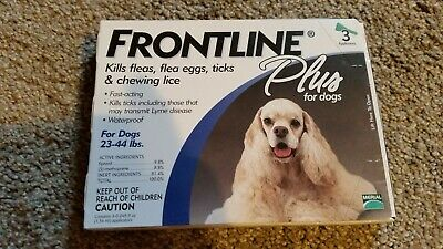 Frontline Plus Flea and Tick Treatment for dogs 23 to 44 lbs