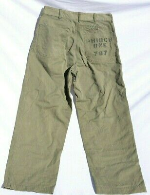 Us Wwii Usmc P41 Hbt Pants Trousers Unit Painted  Marine Corps Pants Herringbone
