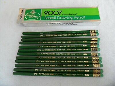 FABER CASTELL 9007-F Drawing Pencils ''12 pack'' Vintage Germany Rare