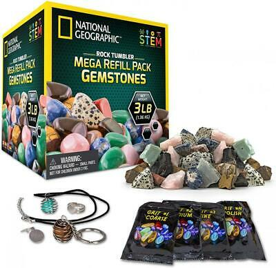 NATIONAL GEOGRAPHIC Rock Tumbler Mega Refill Kit Jewelry Fastenings Learning