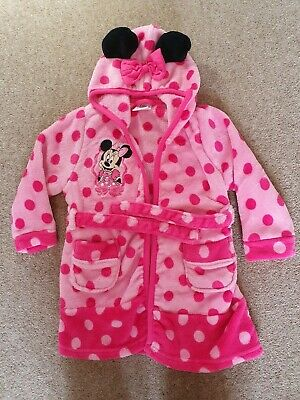 Girl Minnie Mouse Dressing gown 2-3 years disney store