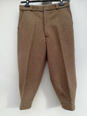 Genuine vintage plus 4/breeks  wool mix,with original metal fastenings &lined po