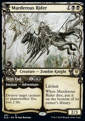 *Magic MtG: Murderous Rider // Swift End (Rare) - Throne of Eldraine *TOP*
