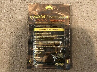 SAM Chest Seal w/ Valve - Occlusive & Adhesive Dressing for Open Chest Injuries