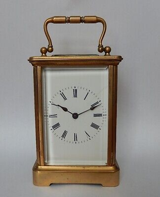 Superb Swiss Early 20th century Brass Case Carriage Clock Working 3017