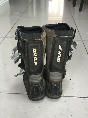 Child's Wulf Motocross Boots Size 31