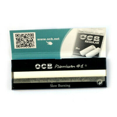 5 booklets OCB Single Premium No1 rolling paper regular size 70mm - 250 papers