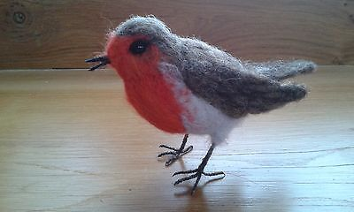 Needle felting kit Robin British Wool UNBOXED WULYDERMY
