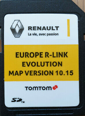 Carte SD GPS Europe 2019 - 10.15 - Renault R-Link