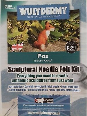 Fox Needle Felt Kit British Wool UNBOXED WULYDERMY