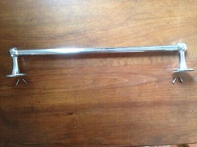 "18"" Chrome bathroom TOWEL BAR ROD Edwardian Art Deco Mid Century VINTAGE"