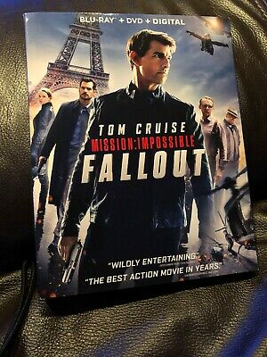 Fallout : Mission Impossible - Blu Ray + DVD + Digital - NEW Sealed w/ SLIPCOVER