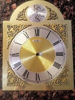 """Howard Miller Grandfather Clock Face Dial Face  AS IS 13"""" X 10"""""""