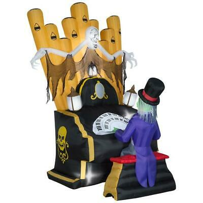 7 Ft ZOMBIE ORGAN PLAYER Airblown Halloween Inflatable