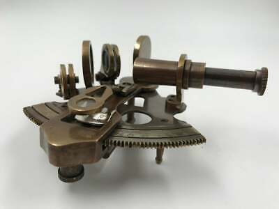 "Nautical 4"" Brass Working Sextant 