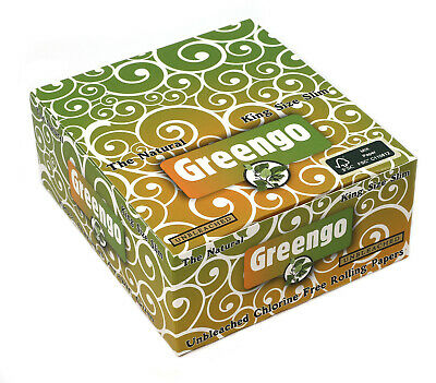 Greengo King Size Slim rolling paper x 50 booklets x 33 - total 1650 papers