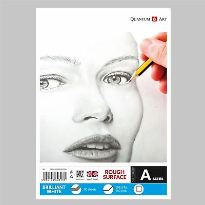 160gsm Sketch Pad Rough White Drawing Artist Paper GUMMED Book