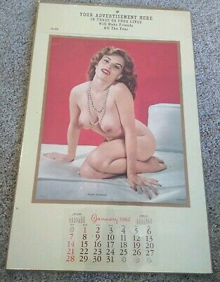 Vintage Pin Up Girl January 1962
