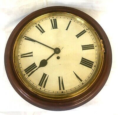 "MASSIVE  18"" Antique Single Fusee Wall Clock Winterhalder & Hoffmeier W & H"